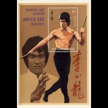 ANTIGUA  Y BARBUDA. BRUCE LEE.