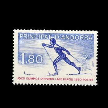 ANDORRA  FRANCESA.   JJ.OO.  LAKE PLACID ´80