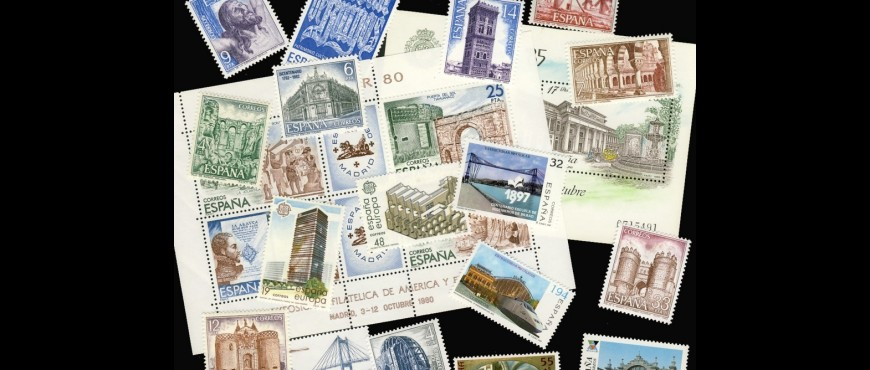 Spanish monuments stamps