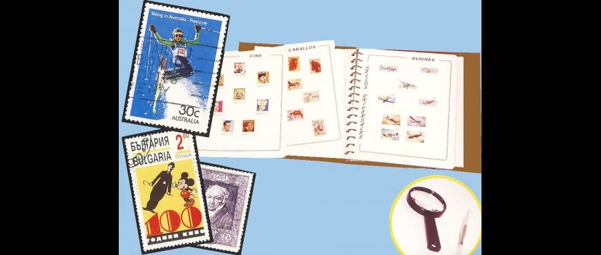 "Collection ""Sellos Universales"" and philatelic items"