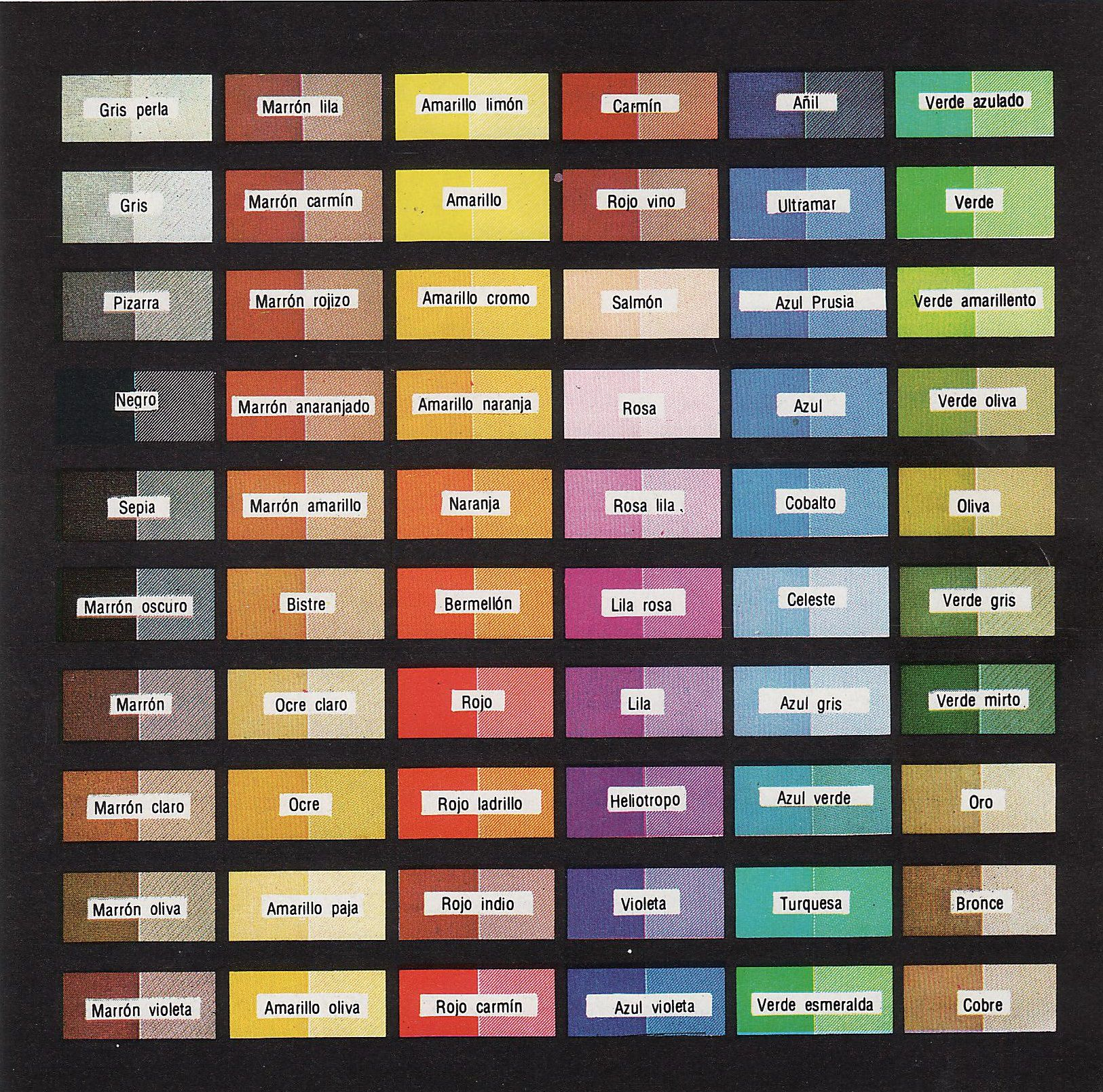 Color of the stamps