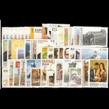 Año completo 2002 con Hojas bloque y carnets