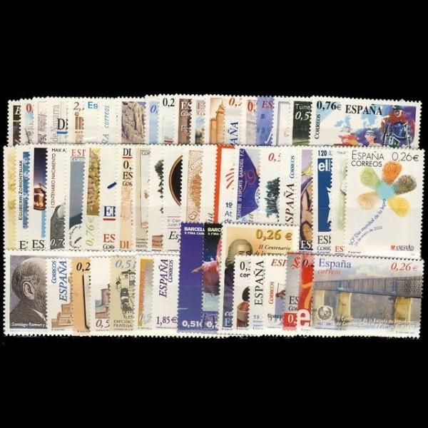 Año completo 2003 con Hojas bloque y carnets