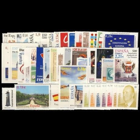 Año completo 2005 con Hojas bloque y carnets