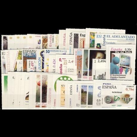 Año completo 2007  con Hojas bloque y carnet
