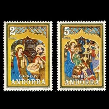 ANDORRA ESPAÑOLA.  87/88 NAVIDAD