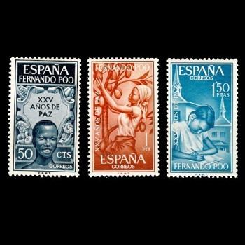 FERNANDO POO. 239/41  XXV AÑOS DE PAZ ESPAÑOLA