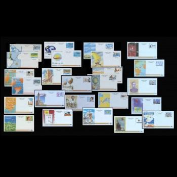 Colección completa de aerogramas desde 1981 hasta 2002