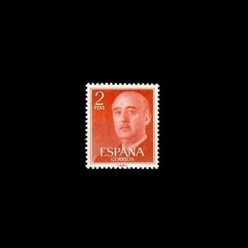1157   FRANCO,  2 pesetas rojo