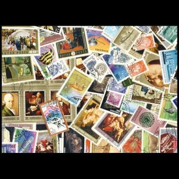 100 sellos matasellados...