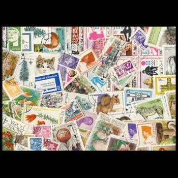 100 sellos matasellados diferentes de todo el mundo.             (Ref.026)