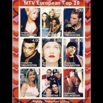 TADJIKISTAN.  MTV EUROPEAN TOP 20