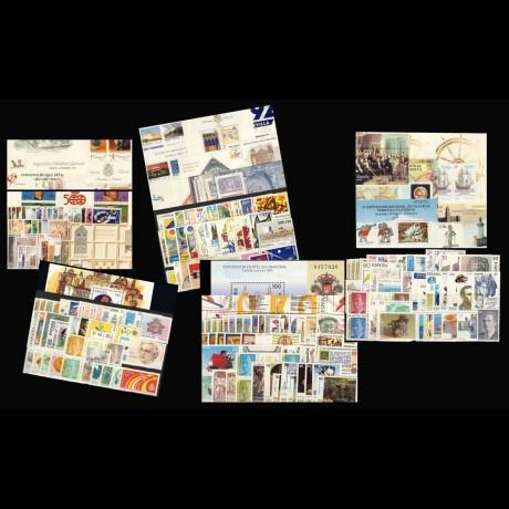 ESPAÑA. Pack de cinco años completos de 1991 a 1995