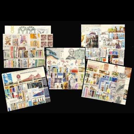 ESPAÑA. Pack de cinco años completos de 1986 a 1990