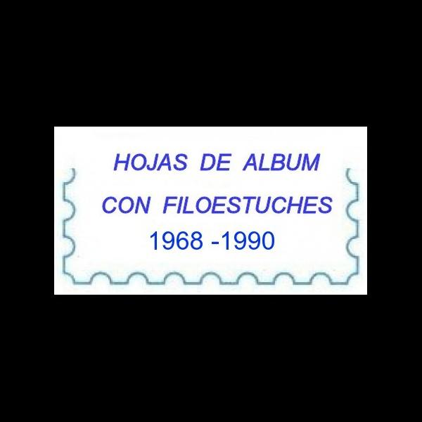 1968 -1990. SELLOS. CARTULINA BLANCA.