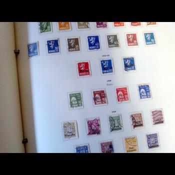 Colección de sellos de  Noruega ( 1856 - 1971) y Suecia (1946 - 71)
