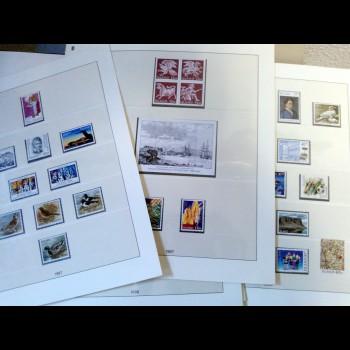 Colección de sellos de  Islandia (1972 - 95) y Feroe (1983 - 95)
