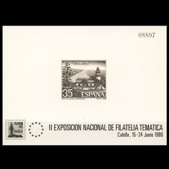 2838 P     FILATEM´86  CALELLA. Con CERTIFICADO