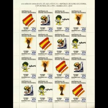 G. ECUATORIAL. 438/41 MP   COPA MUNDIAL DE LA FIFA