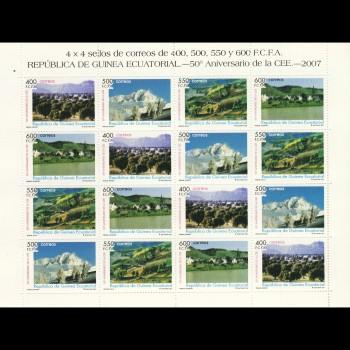 G. ECUATORIAL. 384/87 MP. 50º ANIV. DE LA COMUNIDAD ECONOMICA EUROPEA