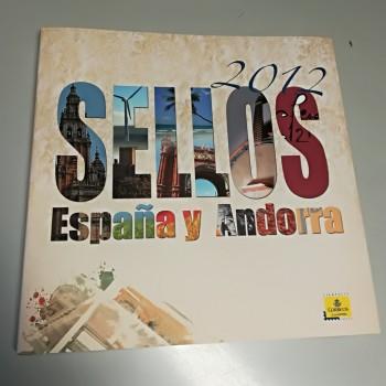 LIBRO DE CORREOS DE ESPAÑA  Y ANDORRA 2012 SIN SELLOS