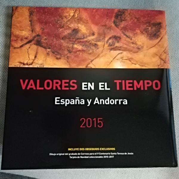 LIBRO DE CORREOS DE ESPAÑA  Y ANDORRA 2015 SIN SELLOS