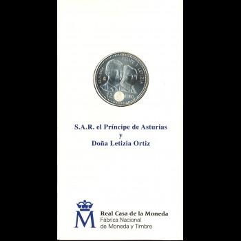 CARTERA F.N.M.T BODA PRÍNCIPE DE ASTURIAS2001