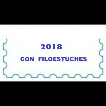 ANDORRA ESPAÑOLA (AÑO 2018) SELLOS. CARTULINA BLANCA.