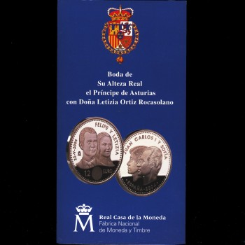 Moneda Conmemorativa Boda Real