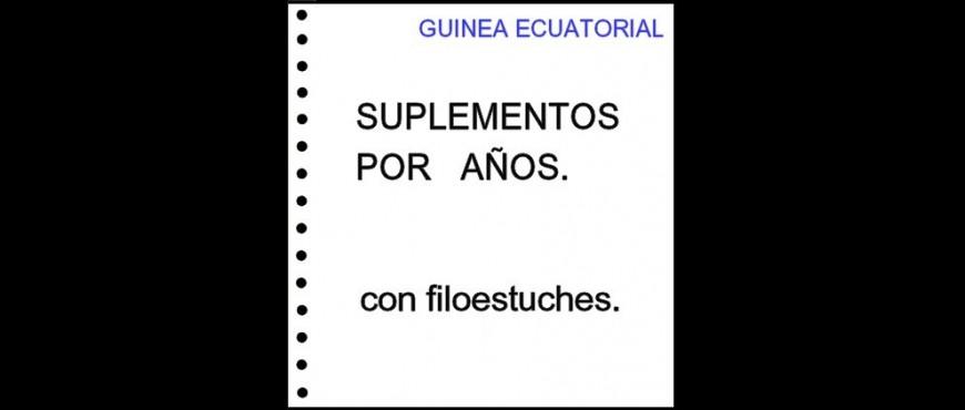Guinea Ecuatorial. Hojas de álbum con filoestuches. Periodos.