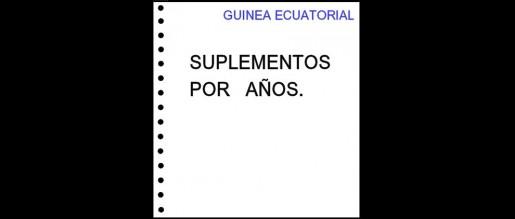 Guinea Ecuatorial. Hojas de álbum sin filoestuches. Periodos.