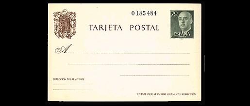 Tarjetas entero postales 1960 - 79