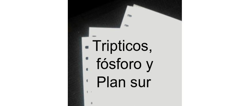 España. Trípticos, fósforo y Plan Sur de Valencia.