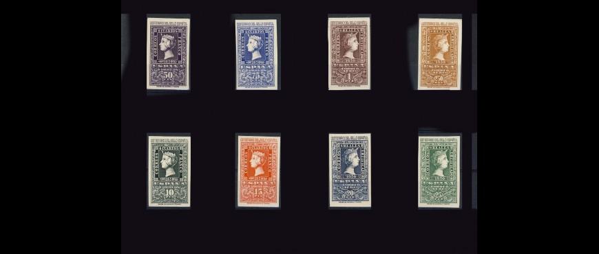 Colección de sellos de correos del estado español de 1950 a 1975