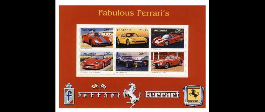 Colección de sellos de marcas de automóviles