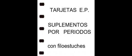 España. T.E.P. Hojas con filoestuches. Periodos.