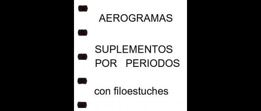 España. Aerogramas. Hojas c/ filoest. Periodos