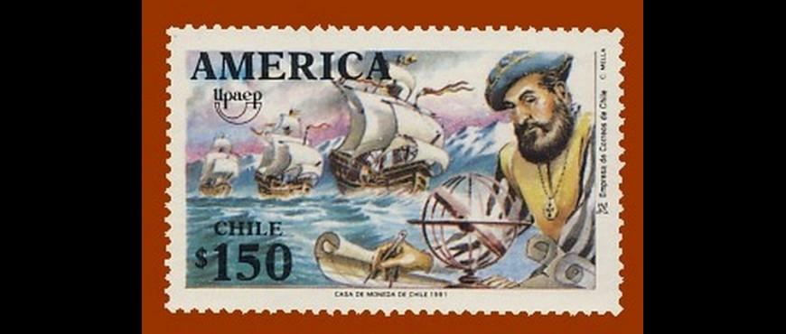 Colección de sellos de Unión Postal de América de España y Portugal